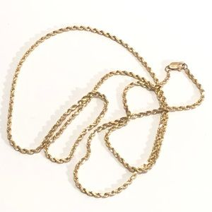 14K Gold Twisted Rope Chain - 24""